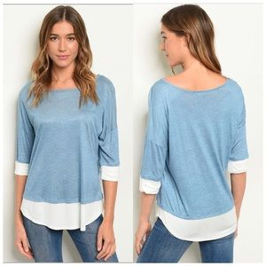 3/4 sleeve top oversized loose fit S, M, L NWT